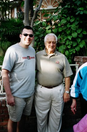 """My """"Uncle"""" Tommy. We were going through pictures with a friend of ours and Jennifer said """"Who's that, your Uncle?"""" Might as well be, I've seen him as many times as my Uncle. For awhile I was on a streak of seeing Tommy Lasorda at every Dodgers game I went to."""