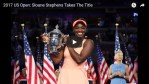 Sloane Stephens is the US open Champion!