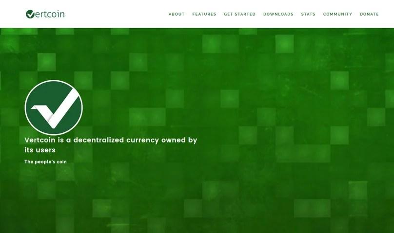 Vertcoin Website