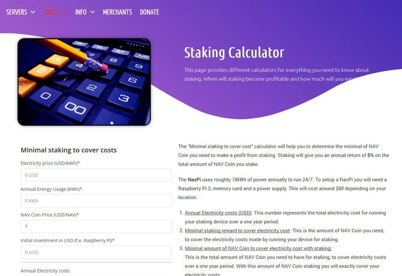 Staking Calculator