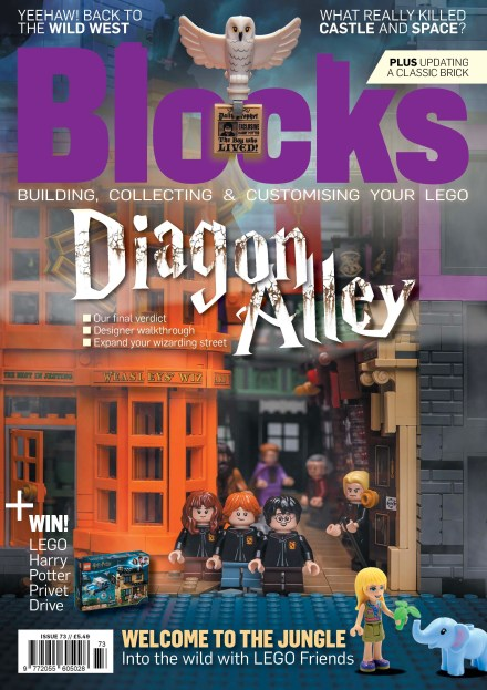 LEGO magazine features Diagon Alley in Blocks Issue 73
