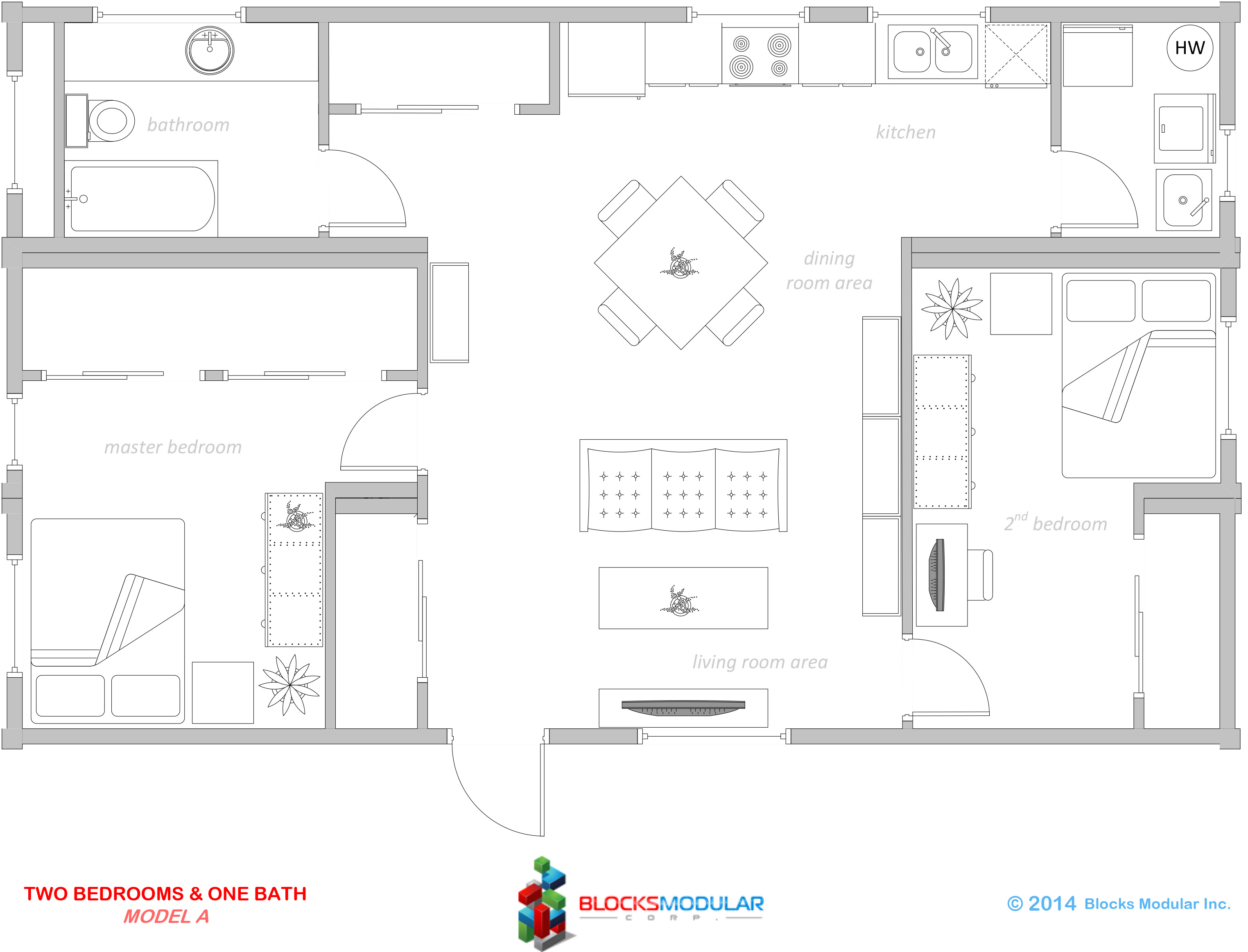 Two Bedrooms Amp One Bathroom