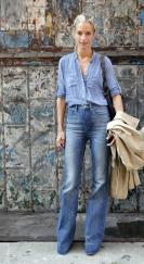 Le-Fashion-Blog-11-Ways-To-Wear-Denim-On-Denim-Inspiration-Street-Style-Chambray-Shirt-High-Waist-Wide-Leg-Jeans-Via-Flare