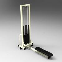 Blocos FP 3D:  Puxada Baixa- Equipamentos Academia 3D - Musculação