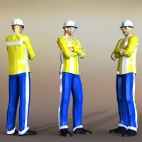 Blocos FP 3D:  Homem 3D / Funcionário 3D