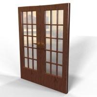 Blocos FP 3D:  Porta Residencial duas folhas