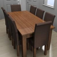 Blocos FP 3D:  Mesa de Jantar com cadeiras - 8 lugares
