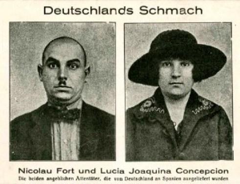 Postal solidària editada a Alemanya arran de la detenció
