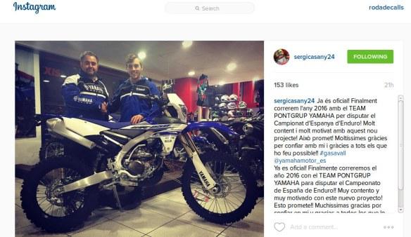 Sergi Casany al Team Pont Grup Yamaha