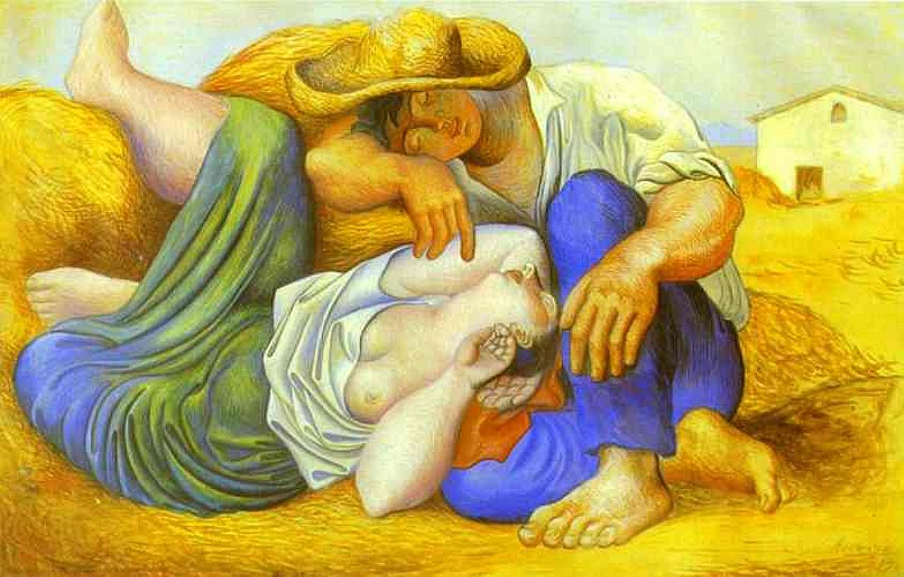 campesinos durmiendo siesta en un cuadro de Picasso