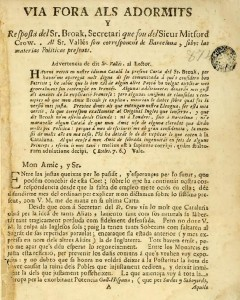 Opuscle de 1734 que defensa una República Catalana
