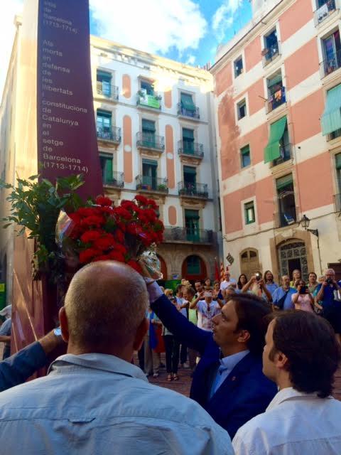 Acte al Fossar de les Moreres (27-VIII-2015)