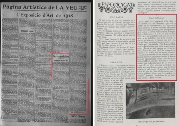 """Les crítiques de """"La Veu de Catalunya"""" i """"Vell i Nou"""""""