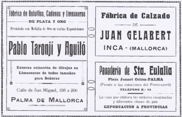 L'anunci del Forn de Santa Eulàlia a la plaça de Joanot Colom