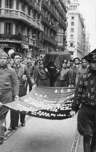 El soterrar de Durruti a Barcelona.
