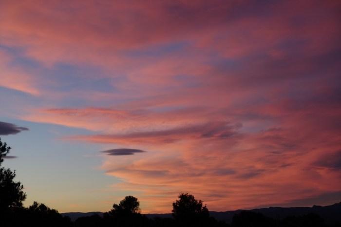 Posta de sol des de La Conarda, 30/03/2015, 19:36 h.