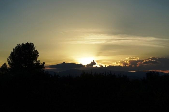 Posta de sol des de Vilamarxant (Camp de Túria), 09/10/2015, 19:09 h.