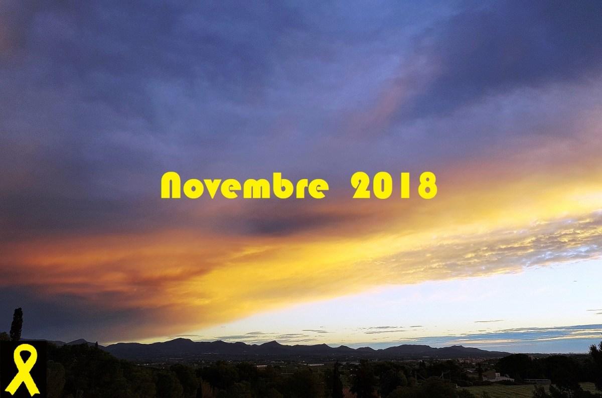 """""""Novembre humit, et farà ric"""". De la meteorologia d'un novembre excepcional, 2018."""