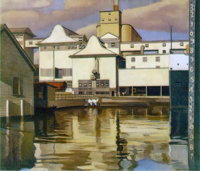 Y- River rouge plant 1932 - oil on canvas, 20 x 24 in. adj (2)
