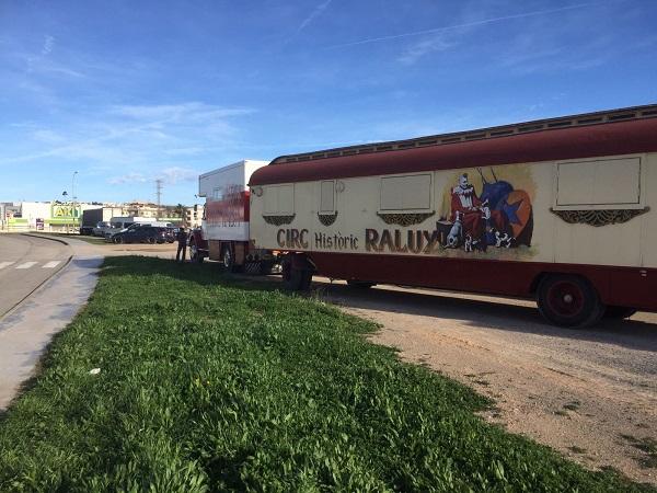 El Circ Històric Raluy, bloquejat a Vilanova i la Geltrú