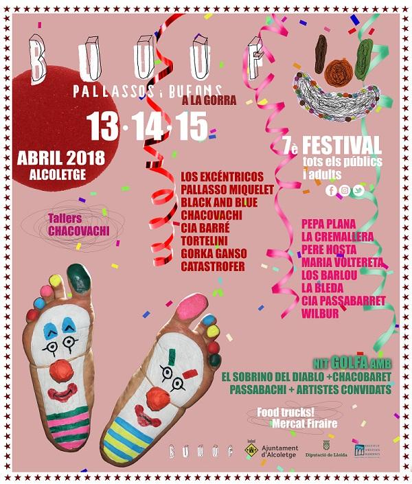 El Festival de Pallassos i Bufons a la gorra Buuuf!!! d'Alcoletge (Segrià) presenta el seu cartell més internacional