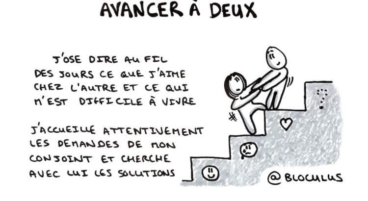 #Cartoon : Tous les couples savent que la vie à 2 n'est pas toujours facile, combien savent avancer à 2 ?