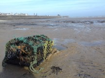 Lobster pot washed up on Bridington South Beach 2017