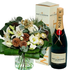 Plus Boeket kerst champagne