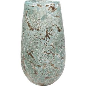 Vase Aya vulcan ice green glazen vaas 14 cm