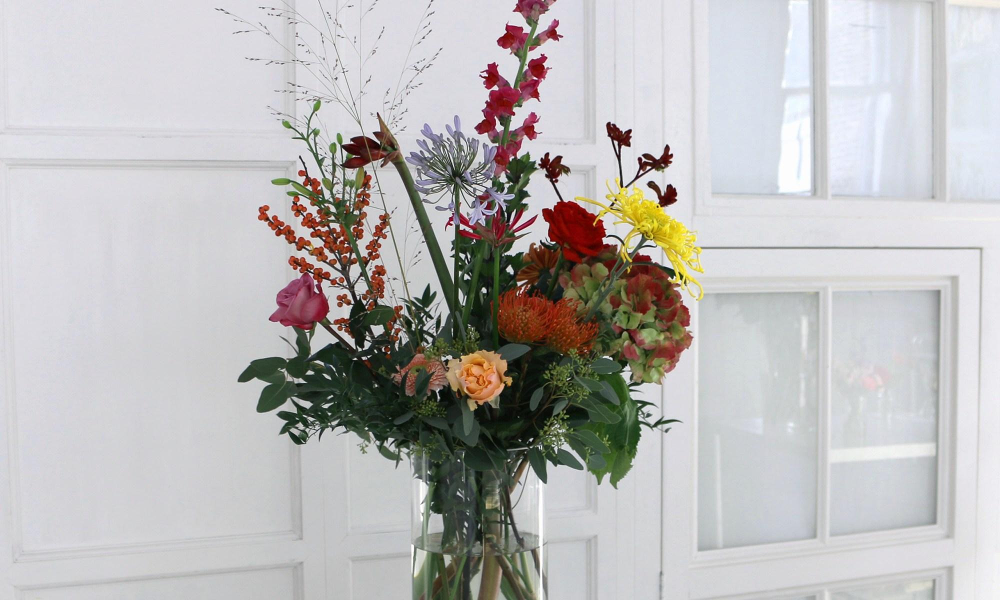bloemen abonnement met wissel-vaas