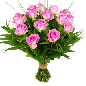 15 Roze rozen bestellen of bezorgen