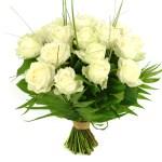 20 Witte rozen bestellen of bezorgen
