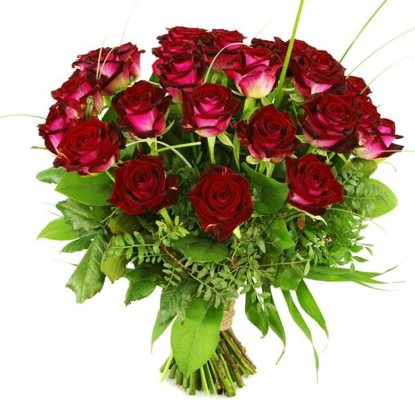 25 Rode rozen versturen bestellen of bezorgen