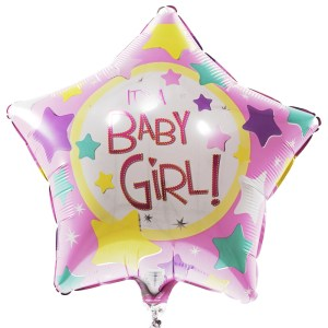 Baby girl ster ballon bestellen of bezorgen