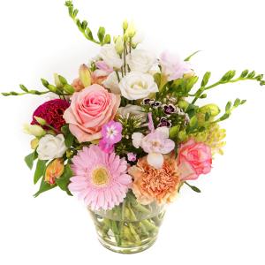 Bloemen met vaas bestellen bestellen of bezorgen