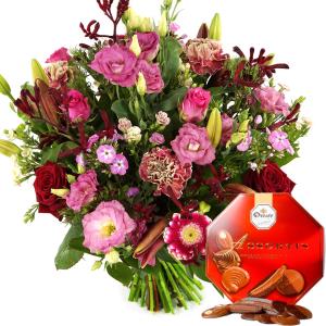 Boeket Romance rode en roze tinten bestellen of bezorgen