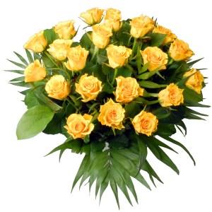Boeket gele rozen bestellen of bezorgen