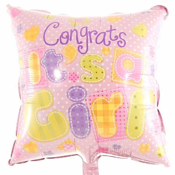 Felicitatie ballon geboorte meisje bestellen bestellen of bezorgen
