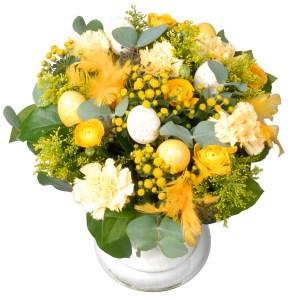 Geel paas bloemen boeket bestellen of bezorgen
