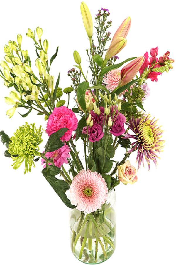 Geplukt roze bloemen bezorgen bestellen of bezorgen
