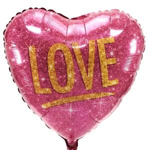 Glitter Heliumballon Love bezorgen bestellen of bezorgen