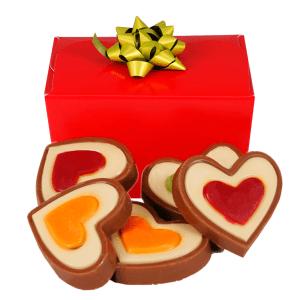 Hartjes chocolade bezorgen bestellen of bezorgen