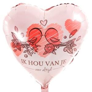 Ik hou van je ballon bestellen bestellen of bezorgen
