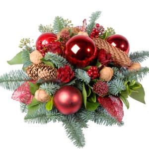 Kerststuk Rood Groen bestellen of bezorgen