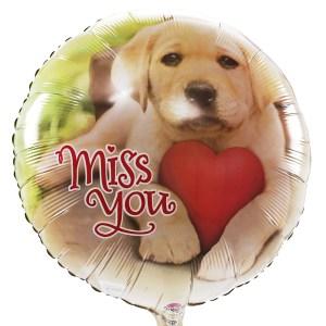 Miss You helium balllon bestellen of bezorgen