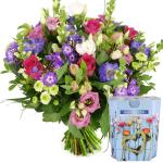 Moederdag bloemen met geurkaars bestellen bestellen of bezorgen