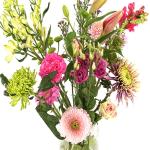 Moederdag cadeau roze pluk bloemen bezorgen bestellen of bezorgen