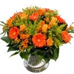 Oranje geel boeket bloemen bestellen of bezorgen