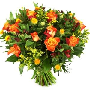 Oranje rozen en bloemen versturen bestellen of bezorgen