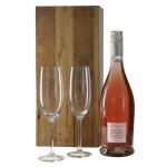 Prosecco rosé en 2 champagne glazen bestellen of bezorgen
